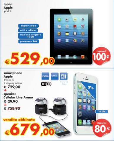 Nell'ultimo volantino di fine Agosto 2013 Panorama sconta molti prodotti Apple di alcune decina di euro