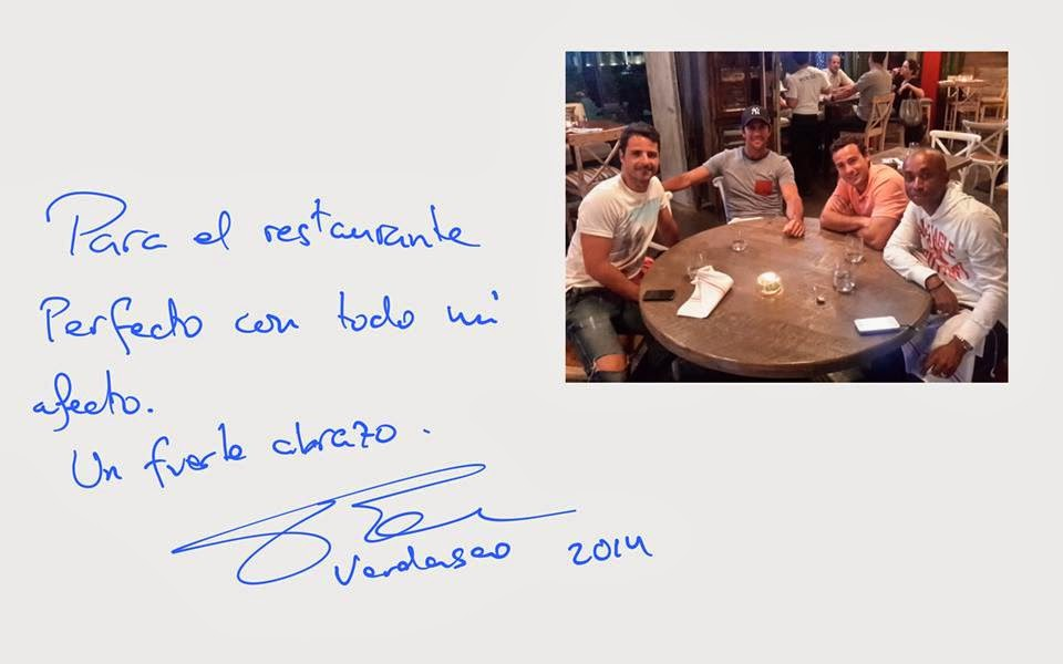 Pro Tennis Player Fernando Verdasco spotted at Perfecto Gastrobar while in town for Sony Open‏