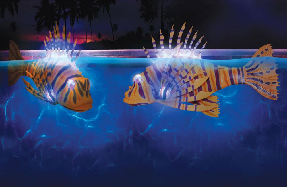 Blog de piscinas peces que iluminan tu piscina for Piscina de peces