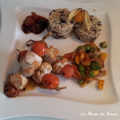 Illustration Brochettes de Poulet Sauce Soja