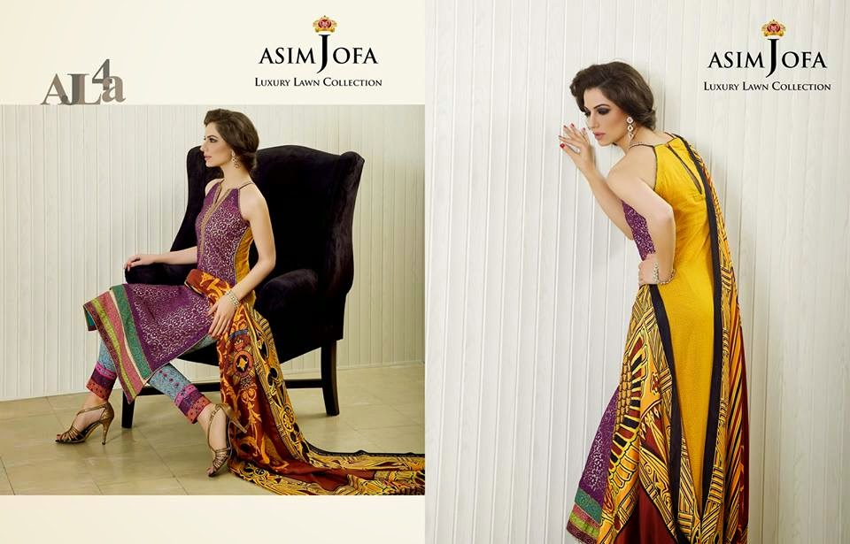 Asim Jofa embroidered summer collection 2015