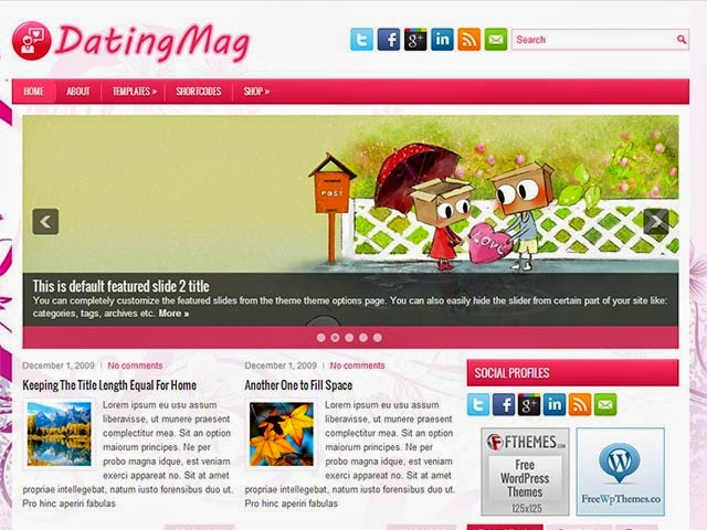 DatingMag - Free Wordpress Theme