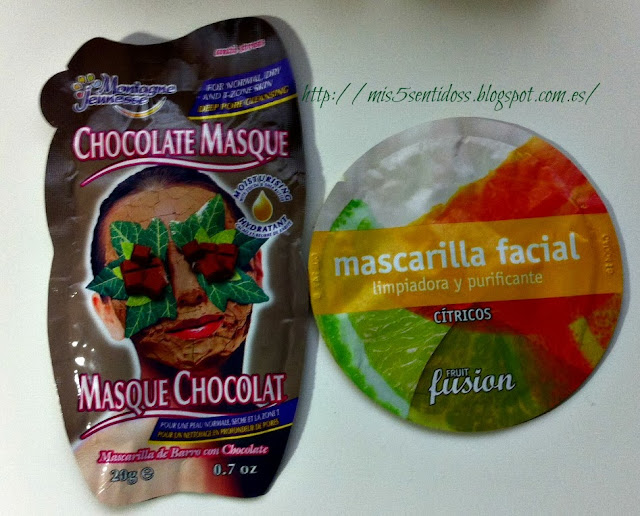Mascarillas de Chocolate y Cítricos