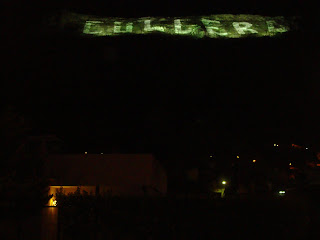 Big illuminated letters in Cullera - Valencia - Spain