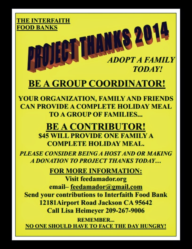 Project Thanks 2014...be a volunteer!