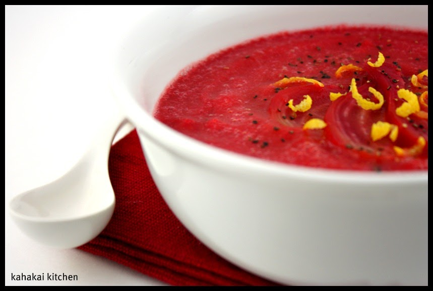 Kahakai Kitchen: Roasted Garlic and Beet Soup: Rosy-Red ...