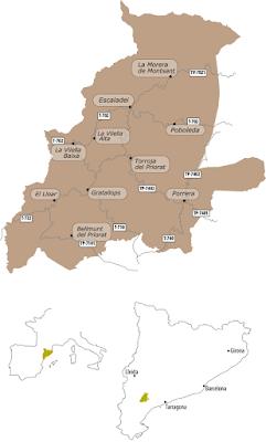 Mapa de Situación DOQ Priorat