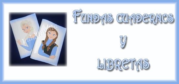 Fundas para cuadernos y libretas de Frozen