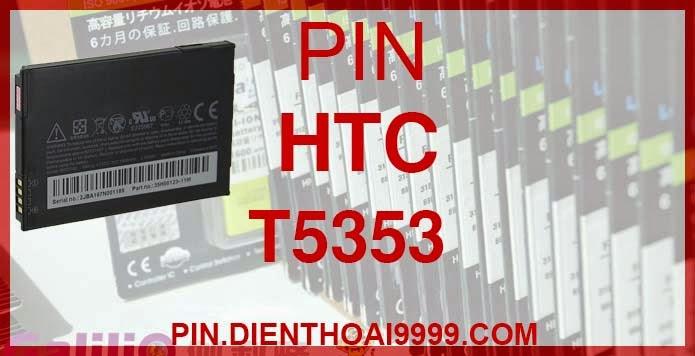 Pin điện thoại HTC T5353 Diamond 2 Touch 2 Tattoo dung lượng cao | Bán Pin T5353 cho điện thoại HTC | bán pin htc 5353 | Pin HTC T5353 - Pin Galilio HTC T5353 dung lượng cao 1700mah - Giá 200k - Bảo hành: 6 tháng  - Pin tương thích với điện thoại HTC Diamond2/ HTC Touch 2/ HTC Tattoo/ A3288/ G4/ SMART F3188/ T3320/ T3333/ T5353/ T5388  Thông số kĩ thuật: - Pin điện thoại HTC T5353 1700 mAh được thiết kế kiểu dáng và kích thước y như pin nguyên bản theo máy, Pin tiêu chuẩn, chất lượng như pin theo máy. - Kích thước: 65.20 x 40.30 x 4.76mm - Dung lượng: 1700 mAh - Điện thế: 3.7V - Công nghệ: Pin Li-ion Battery  Mô tả sản phẩm: - Pin Galilio nhờ nghiên cứu và phát triển công nghệ lithium nên đã đạt được pin dung lượng cao nhất cho phép (từ 1,5- 2 lần) nhưng vẫn đảm bảo được chất lượng cao, đã vượt qua nhiều tiêu chuẩn chất lượng như ISO 9001, ISO 1400I, CERTIFICATED, hãng cũng ứng dụng Công Nghệ an toàn mà những hãng pin khác không có được: Controller IC, Control swithches, Temperature Fuse.. - Thiết kế kiểu dáng và kích thước y như pin nguyên bản theo máy, thuận tiện và dễ dàng thao tác, pin dung lượng cao cung cấp đủ nguồn điện cho máy sử dụng được trong thời gian dài, có thể mang đi bất cứ đâu để phòng khi pin của máy bạn hết mà không có điều kiện để sạc. - Cho phép bạn giữ các cuộc nói chuyện và bảo đảm cho bạn không bỏ lỡ các cuộc gọi điện thoại quan trọng - Pin sạc bằng cách gắn vào điện thoại và sạc như pin gốc - Sản phẩm đạt tiêu chuẩn tuyệt đối về an toàn cháy nổ - Bảo hành đổi pin mới trong 6 tháng.  GIAO HÀNG VÀ BẢO HÀNH TẬN NHÀ  Quý khách có nhu cầu mua pin,  hãy liên hệ với chúng tôi:  - Khu vực Ba Đình: 0904.691.851 - Khu vực Từ Liêm: 0976.997.907  Website: http://pin.dienthoai9999.com Mua số lượng lớn: 0942299241  - Hướng dẫn sử dụng, bảo quản pin: http://pin.dienthoai9999.com/huong-dan-su-dung-pin - Quy định bảo hành: http://pin.dienthoai9999.com/quy-dinh-bao-hanh-pin - Khách hàng góp ý: http://pin.dienthoai9999.com/khach-hang-gop-y  Xem thêm pin cùng l