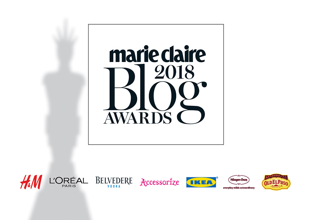 Nominee For Marie Claire Blog Awards 2018