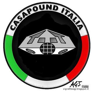 Casapound, arresti, satira, vignetta