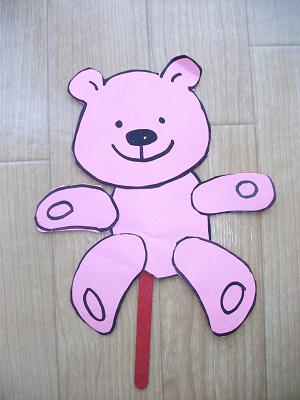 Teddy Bear Puppet Craft Preschool Crafts For Kids