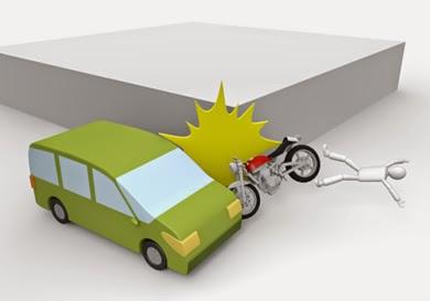 曲がり角の交通事故