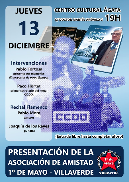 jueves 13 Presentación Asociación Amistad 1º Mayo en Villaverde