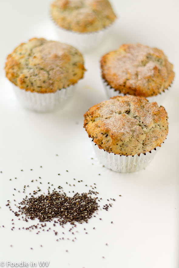 Click for Recipe for Yogurt and Chia Seed Gluten Free Muffins