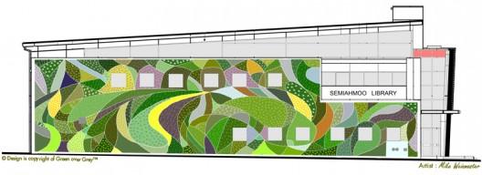 Bibliotequera muro verde biblioteca semiahmoo estados unidos for Diseno de muros verdes