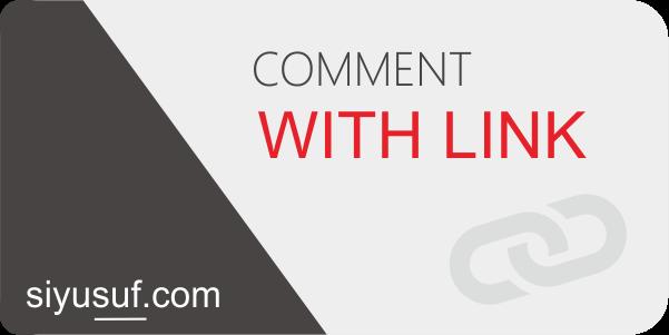 Komentar Menggunakan Link di Blog