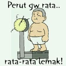 perut gue rata? rata-rata lemak kocak