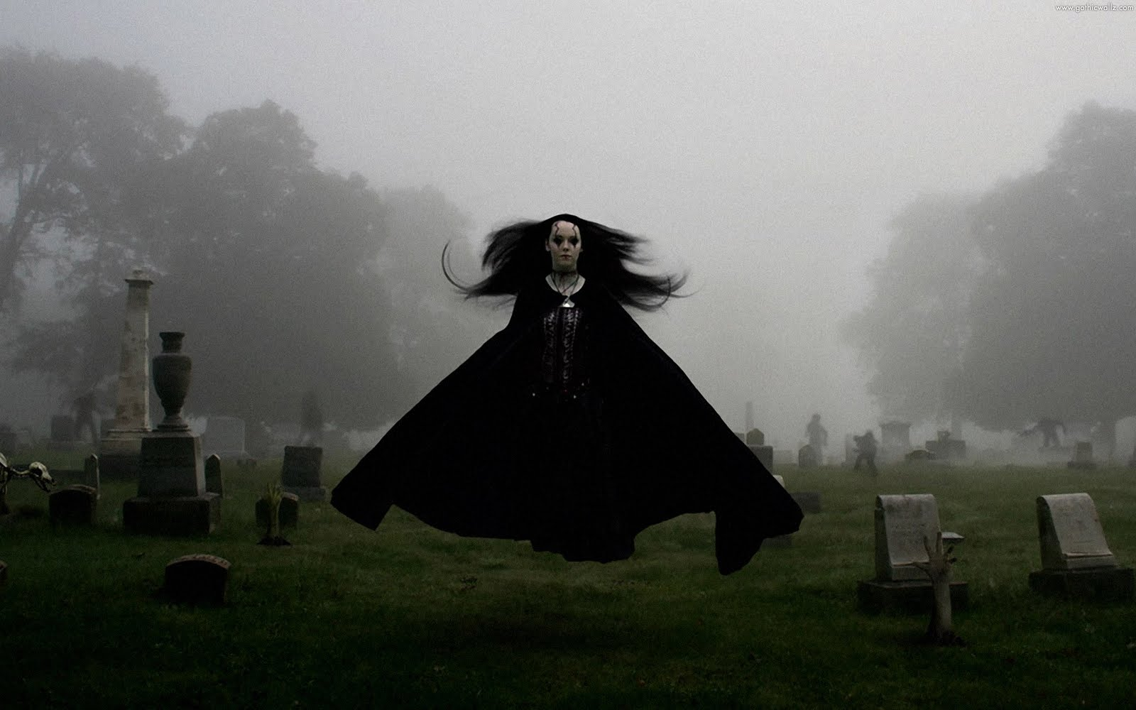 Flying Goth Woman | Gothic Wallpaper Download