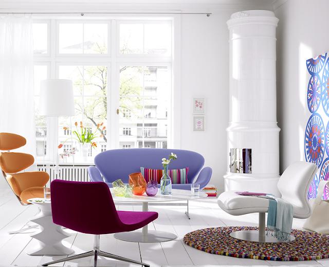 Lyse lette interiører med volum, lys og vårspreke farger!