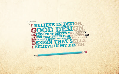 I Believe in Design Colorful Texts Typography HD Desktop Wallpaper