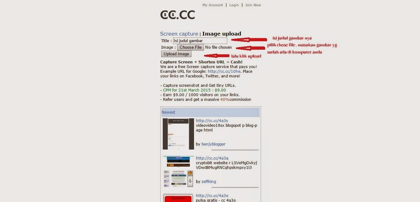 Cara mendapatkan dollar di cc.cc