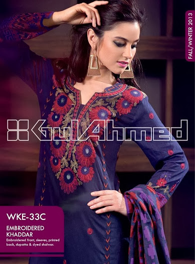 Gul Ahmed Fall Winter Dresses Collection 2013-14 For Women & Men`s