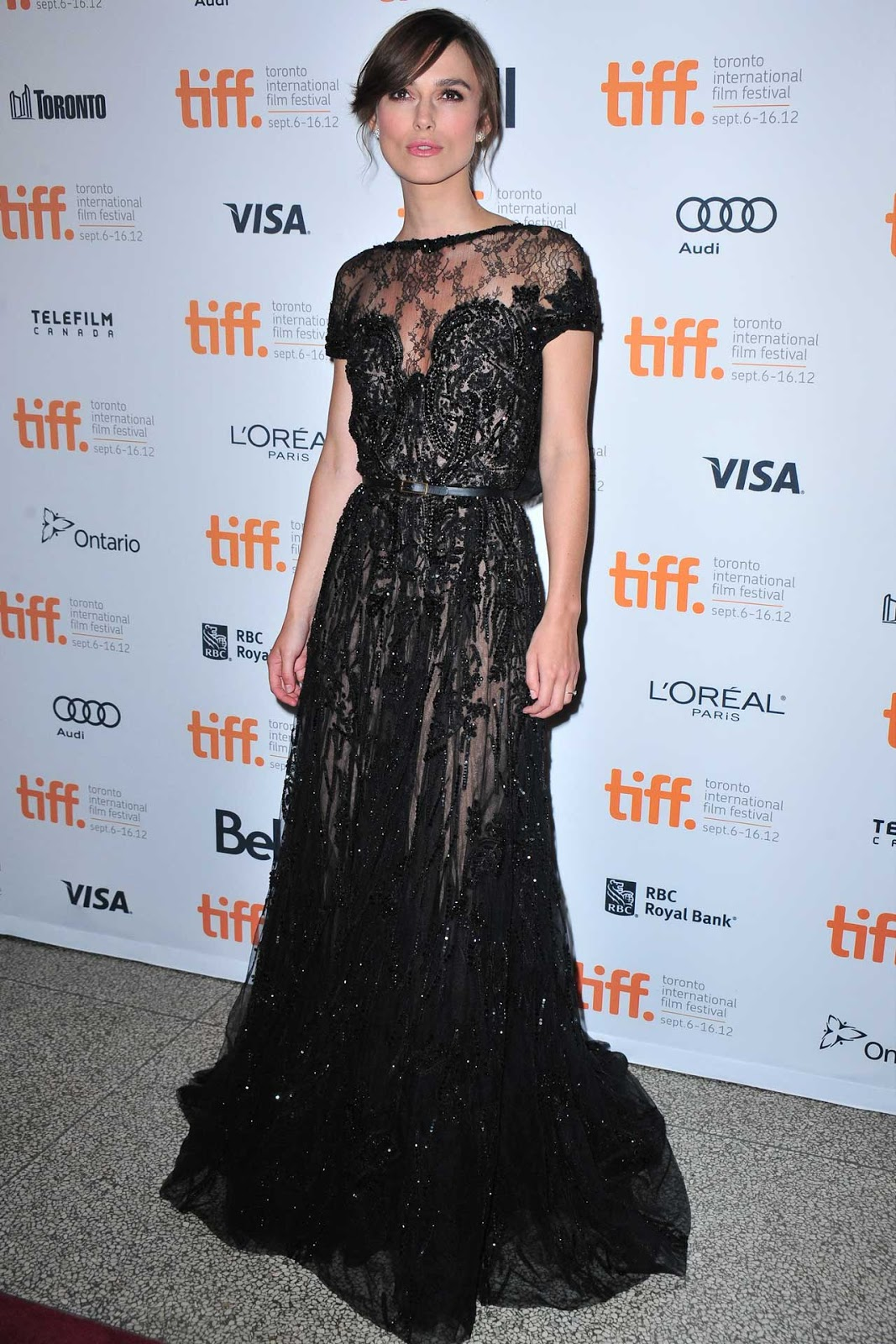 Keira Knightley at the TIFF in Elie Saab