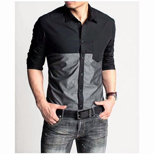 Black Casual Shirt For Men | Klassic Corner