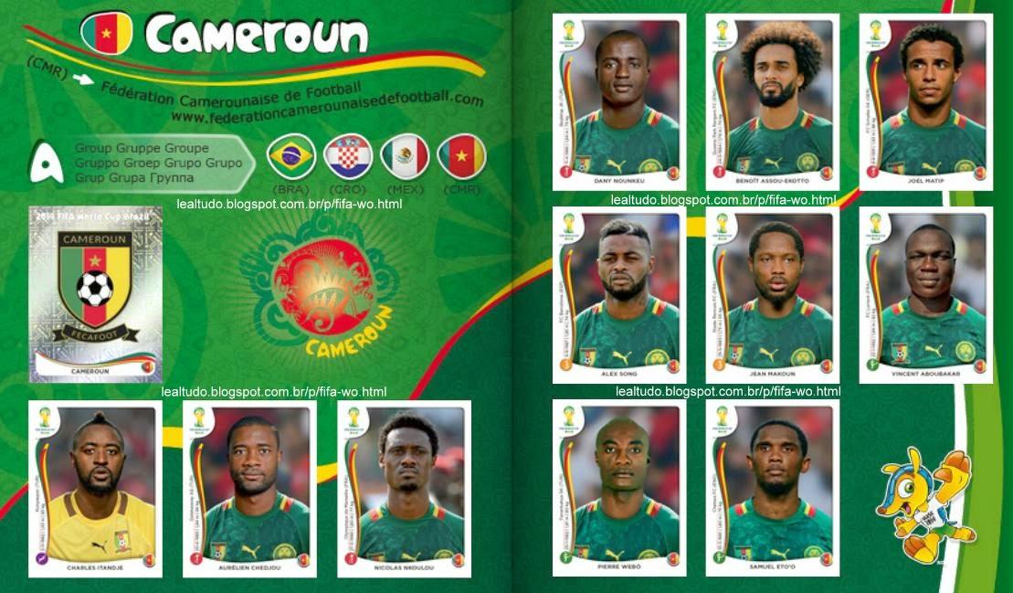 Album CAMEROUN - CAMARÕES Fifa World Cup BRAZIL 2014 LIVE COPA DO MUNDO Sticker Figurinha Download Lealtudo