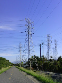 High voltage towers and lines along the Stevens Creek Trail (Narrative Clip)