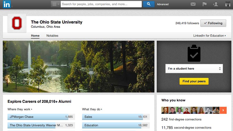 Ohio State LinkedIn