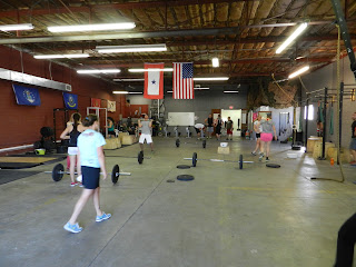 Nasty things ahead! The CrossFit WOD was brutal at CrossFit Wichita!