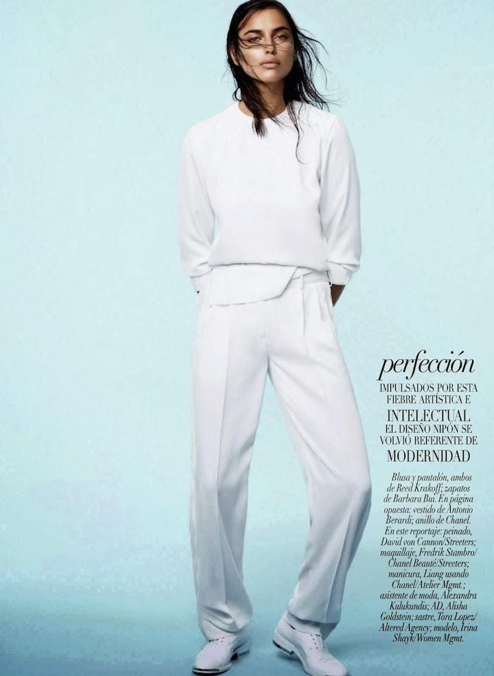 Una Visión Etérea: Irina Shayk By David Roemer For Vogue Mexico January 2014