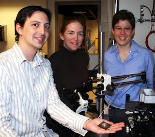 Jacob Adams with principal investigators Jennifer Bernhard and Jennifer Lewis