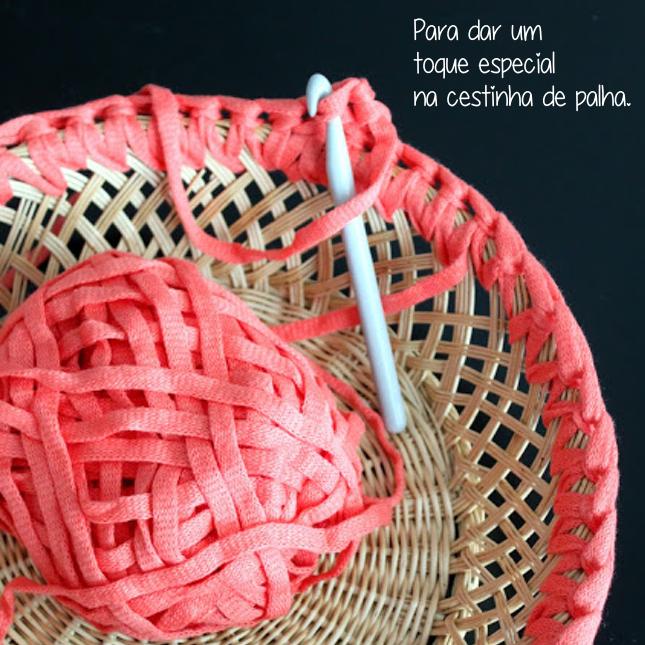 faça-você-mesmo-cesto de palha-croche