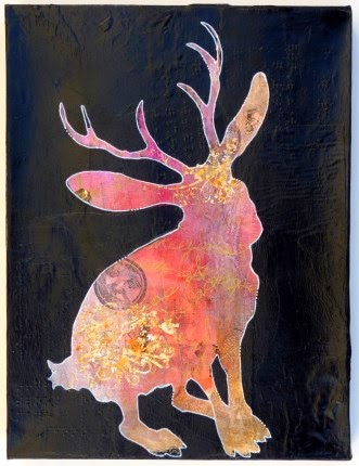 Carmen Wing - Mixed Media Jackalope