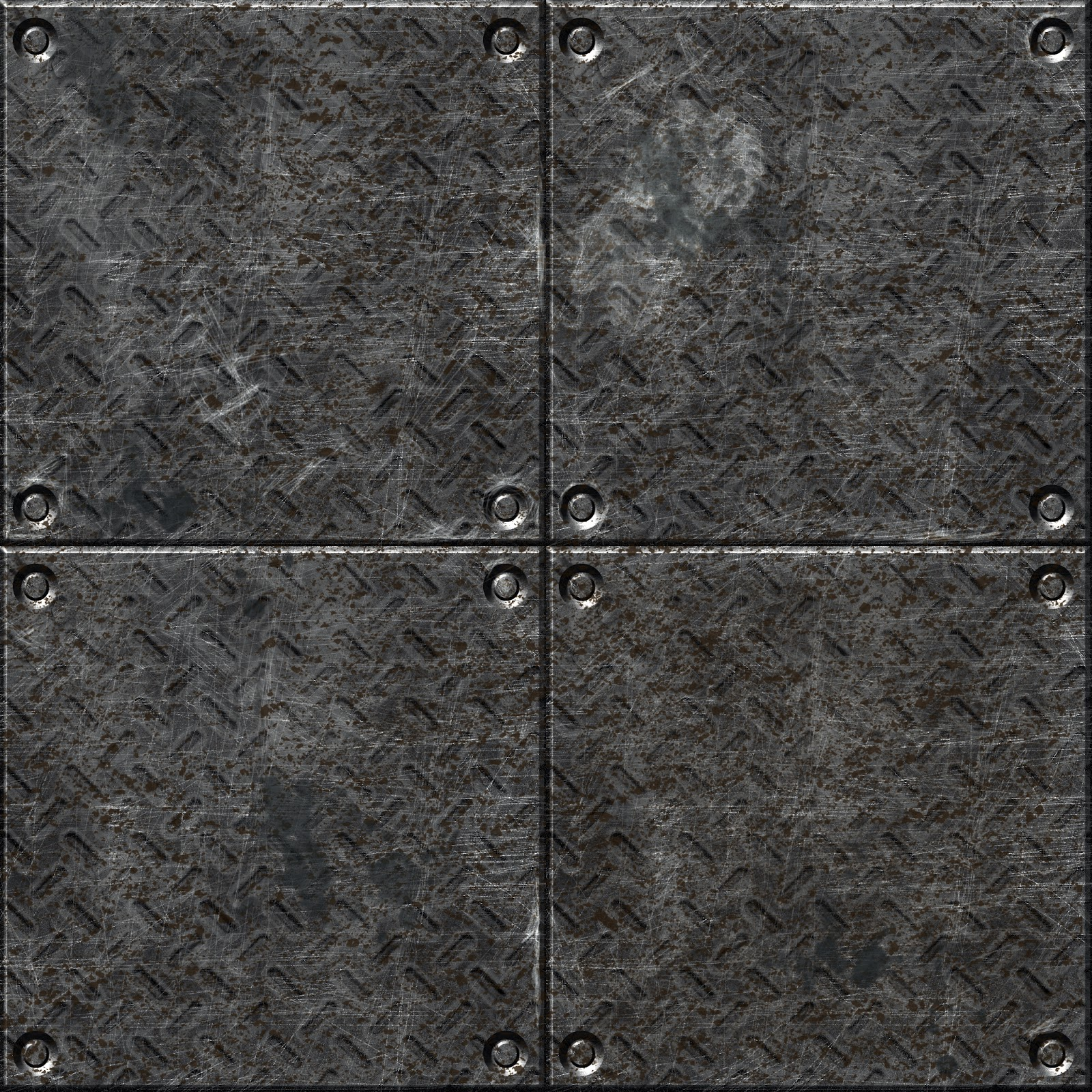 Metal floor tile