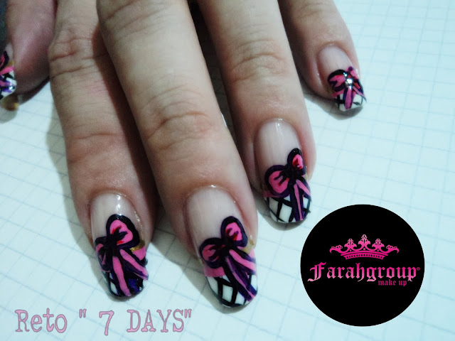 "desafio, nail art ""7 days"", lady french, manos con francesita"