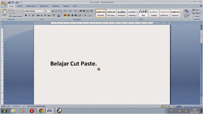 copy, cut dan paste dalam microsoft word