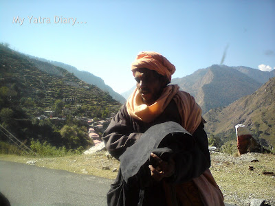 A sage on a Char Dham padyatra in Garhwal Himalayas, Uttaranchal