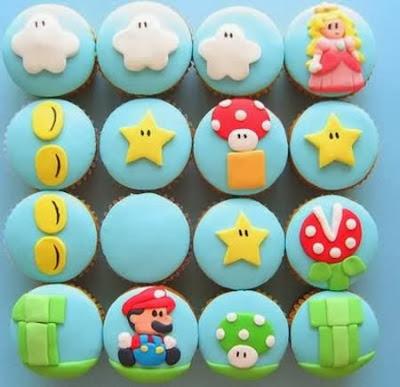 Bánh ngọt cupcake Mario