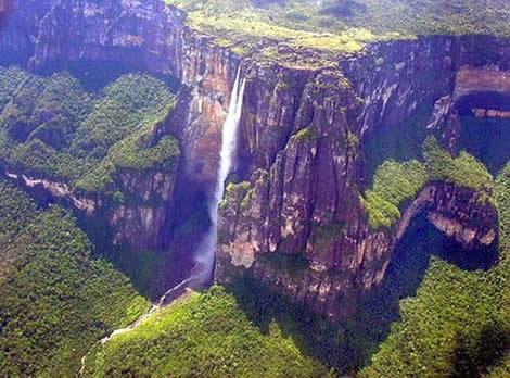 Imagen de la catarata mas alta del mundo