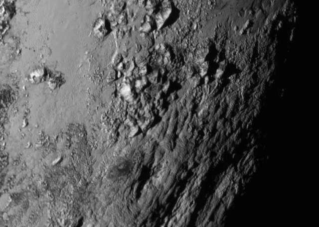 Close up of Pluto