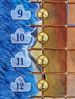 Elasund: The First City of Catan - Some of the Windmills along the coast