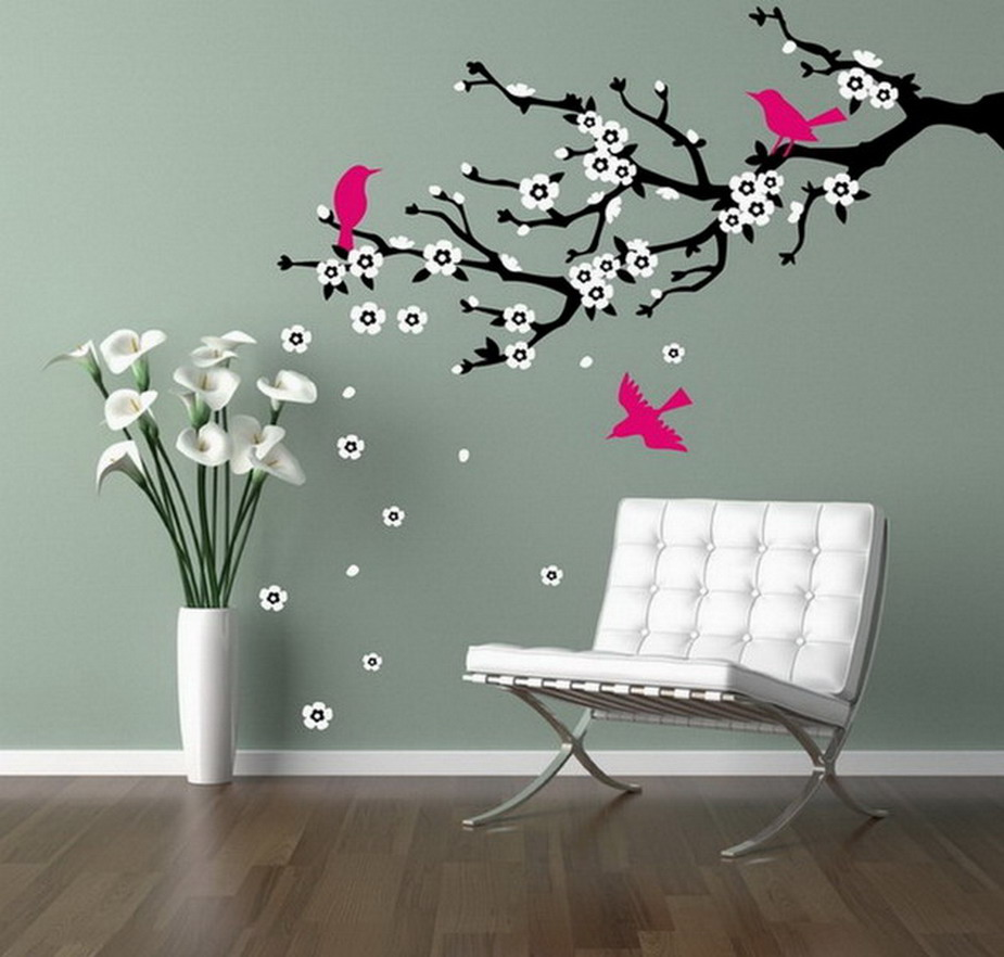 Pinturas De Paredes Modernas Imagen Dormitorio Colorido With  ~ Pintura Decorativa Paredes Interiores