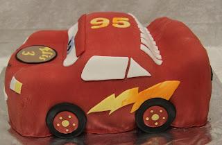 3D Blixten McQueen tårta