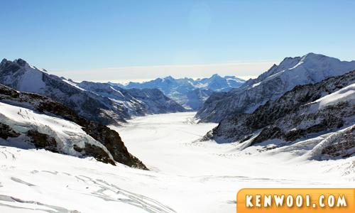 swiss alps jungfrau glacier