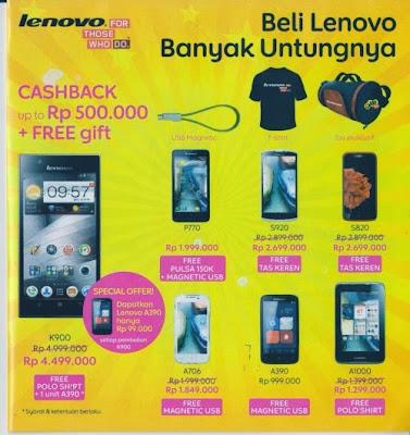 Harga Smartphone Lenovo di Indocomtech 2013