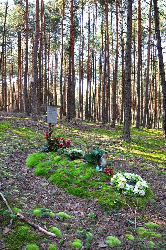 Piasek, żołnierska mogiła leśna styczeń 1945. Foto KW.